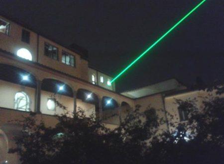 Raggio laser sopra Pistoia (video)