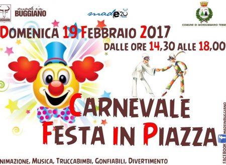 Carnevale e mercatino in piazza a Monsummano