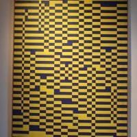 Pannello a scacchi gialli e blu, 1950