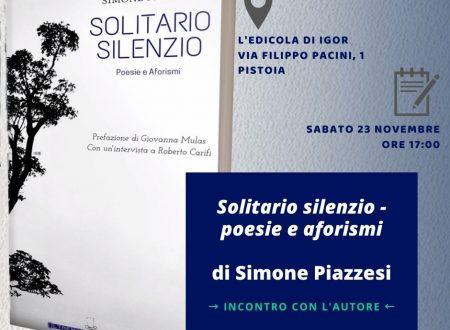 Piazzesi presenta SOLITARIO SILENZIO all'edicola di Igor